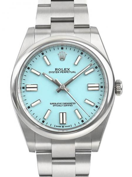 Rolex Oyster Perpetual, Turquoise Blue, 41 mm