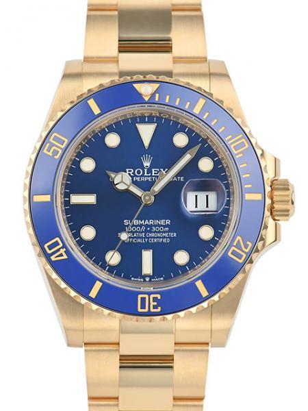 Rolex Submariner Date, Yellow Gold, 41 mm