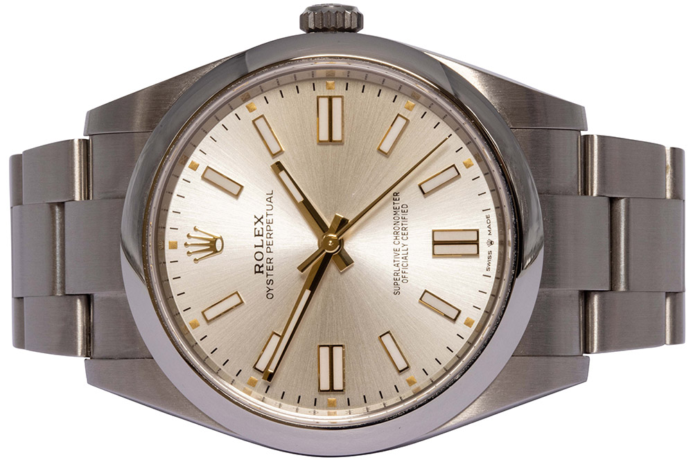 Rolex Oyster Perpetual, Silver, 41MM